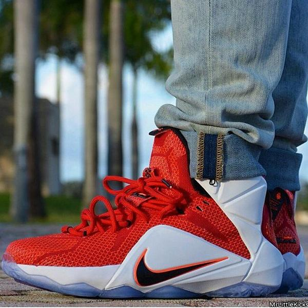 ... yup sneakershouts on foot look at the lebron 12 lion heart. would you  rock these ...
