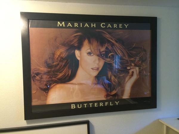 Happy anniversary to an album that has hugely impacted my life #Butterfly @MariahCarey the poster's still on my wall http://t.co/2RgAENrWen