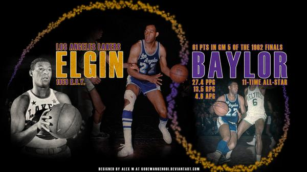 """""""Elgin Baylor either has 3 hands or 2 basketballs. It's like guarding a flood."""" Happy 80th! http://t.co/bn2KHMfUef http://t.co/nytjMUnknk"""