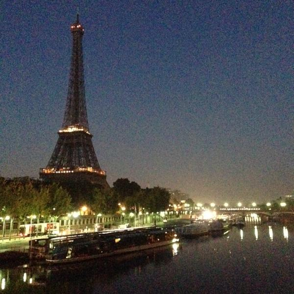 A1: There are too many to choose! But a classic wins. Eiffel Tower at sunrise last Thurs. #TL_Chat http://t.co/pytpKgGQAJ