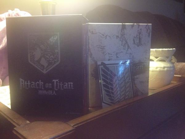 Got my Attack on Titan Part 2 set with Ender Box today. Included a sticker, too. @FUNimation http://t.co/7k82cXtDzq