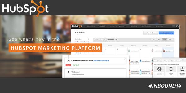 JUST ANNOUNCED at #INBOUND14: @HubSpot's marketing platform just got better! What's new: http://t.co/N30ZXPXQ5u http://t.co/P0nYzLFWRx