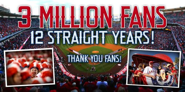 Image result for angels 3 million fans