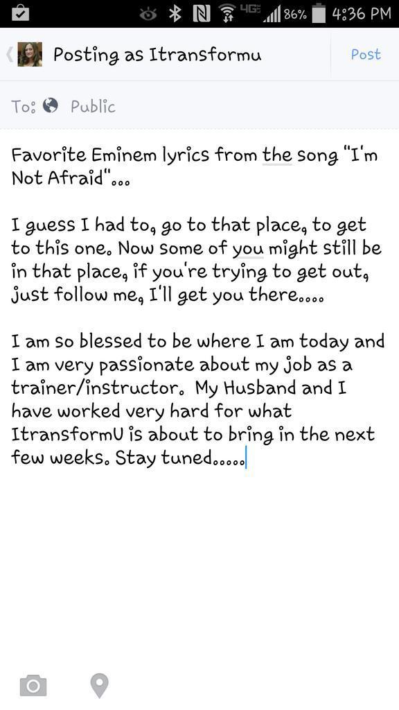 Lyric i m not afraid eminem lyrics : Amanda Moon (@itransformu) | Twitter