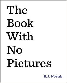While we were eating lunch @bjnovak apparently wrote another book…. #TheBookWithNoPictures #awesome #overachiever http://t.co/Sjx388sN53