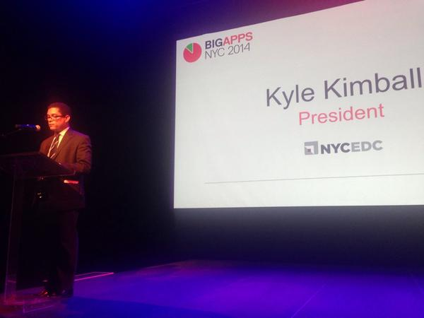 NYCEDC President Kyle Kimball at NYC BigApps 2014 event