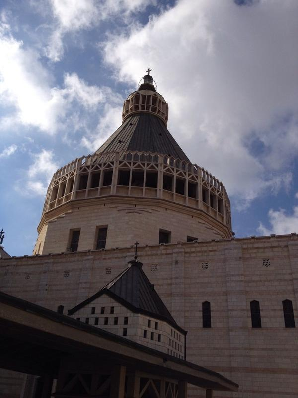 The Basilica of the Annunciation in Nazareth where US Bishops' #PeacePilgrimage celebrated Mass on Tuesday. http://t.co/GkIIWrbhMQ