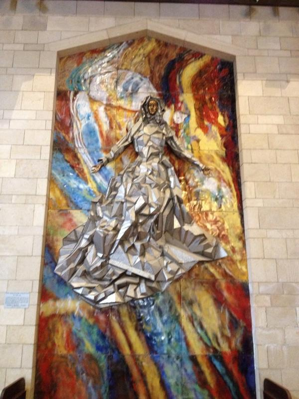 USA shrine at the Basilica of the Annunciation in Nazareth. #PeacePilgrimage http://t.co/aE3u7d4N4s