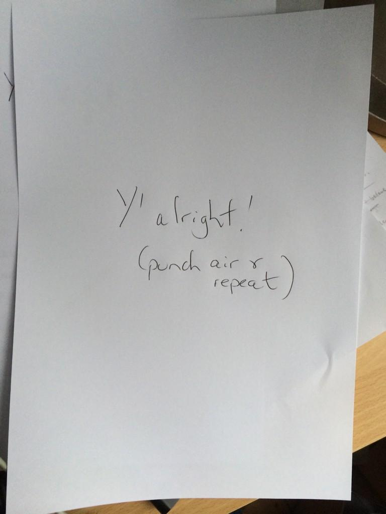 Alex Salmond's speech notes for the final Yes rally tonight. I still think it's a mistake to hold it in Sheffield http://t.co/bovioqE3Mr