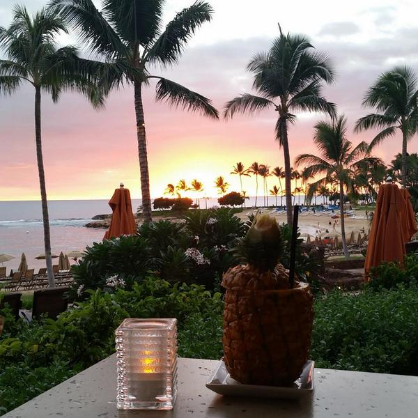 Most beautiful view from dinner I have ever seen! @DisneyAulani 'Ama 'Ama http://t.co/LnIyZH7Qv5