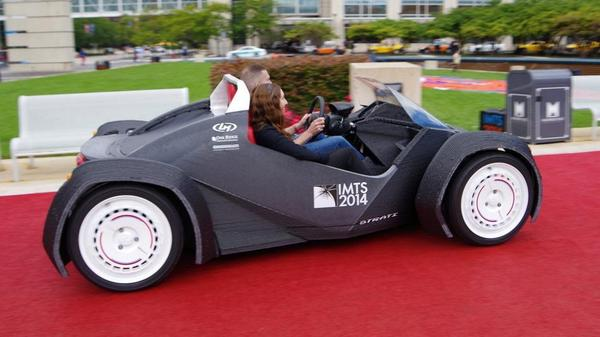 World's first 3D printed car: 44 hours to make, with only 49 parts, including motor and wheels http://t.co/P90fJC4048 http://t.co/FPhhysqpsF