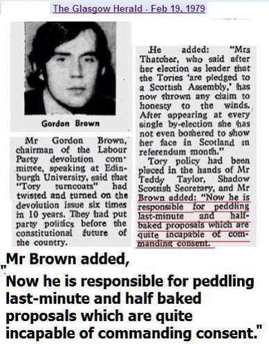 Ex-Labour leader #GordonBrown exposed as a total LIAR! No surprises there then! #indyref #VoteYes http://t.co/tkH6WrkQL5