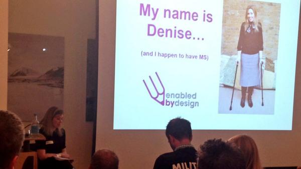 Denise, founder of @enabledby, shares her experience of having MS & innovation in the Social Care world. #Hackthehome http://t.co/BBDCdL47DQ