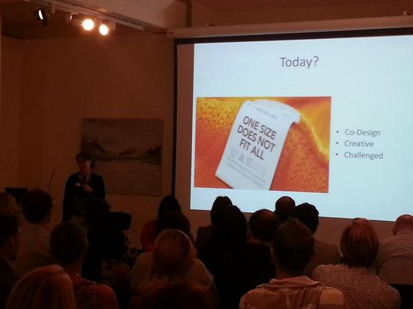 Inspiring stuff from @merranmcrae @bronteot @enabledby at #hackthehome one size does not fit all http://t.co/bOaGhIihcJ