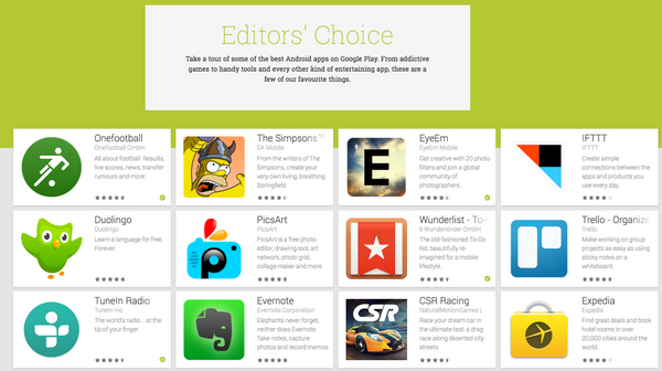 3 Earlybird apps featured in google's  Editors' Choice. Made with  <3 in Berlin @Onefootball, @EyeEm & @Wunderlist http://t.co/ib0tQoJB8Z