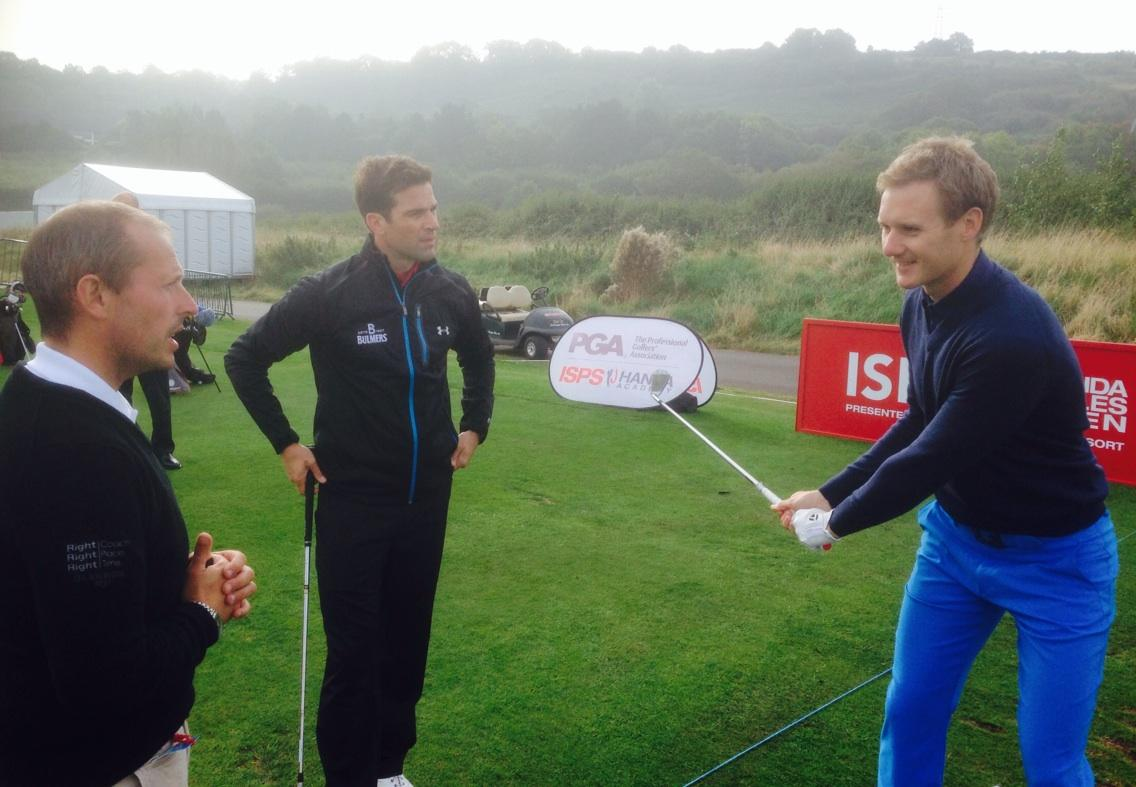 RT @TheCelticManor: .@Gethincjones and @MrDanWalker take part in a special @ISPSGolf clinic with @TheGolfAcademy1 #ISPSHandaWalesOpen http:…
