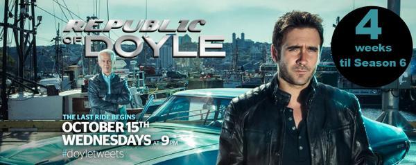 Countdown to #Doyle - 4 WEEKS until the Season 6 Premiere of @RepublicofDoyle #LASTRIde #bittersweettweet http://t.co/KwdW3Z8xEg