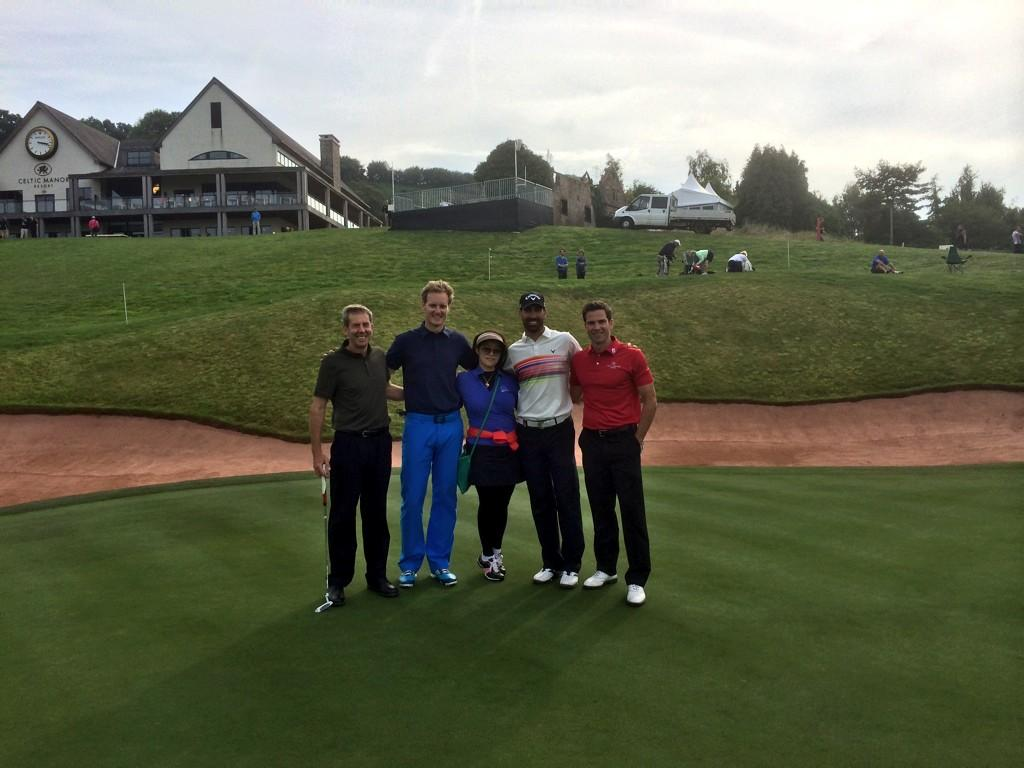 RT @mrdanwalker: Top day at @TheCelticManor. Alvaro Quiros is a lovely fella @GethincJones & I dragged him down #ISPSHandaWalesOpen http://…