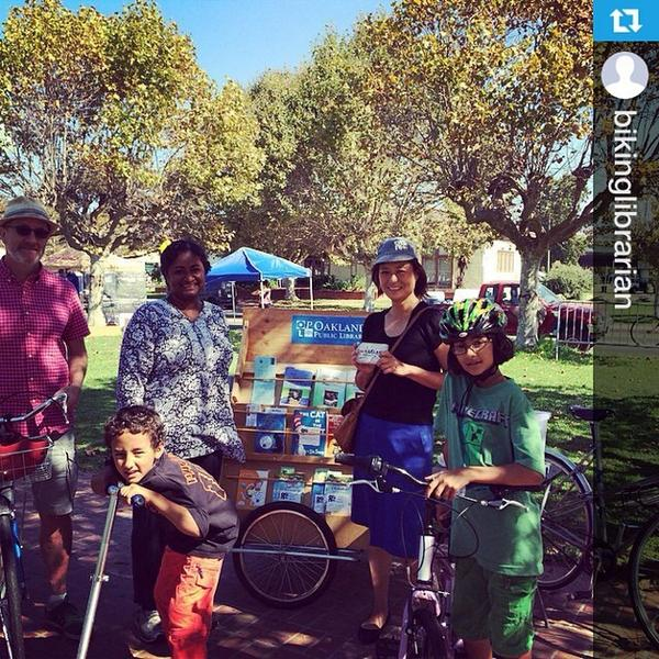Getting Outside The Lines in the East Bay with @bikinglibrarian's mobile shelves & activities! #getotl #tw --- #g... http://t.co/LW4S586xBD