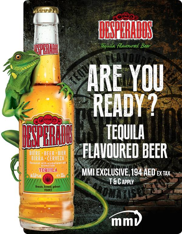 Mmi Dubai On Twitter Desperados Tequilla Flavoured Beer Exclusive Only To Mmi Dubai Alhamracellar Aed 194 Excl Tax 24 Pack Http T Co Eeapeiad4z
