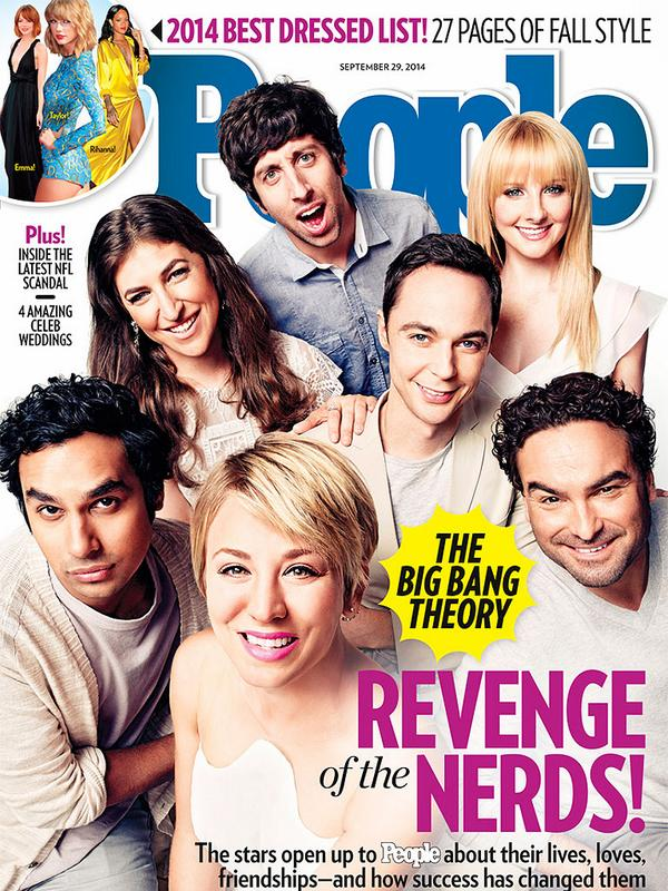 First TV cast cover since #Friends! @peoplemag: Who's excited about the #BigBangTheory cover? http://t.co/jFngYgCZc8 http://t.co/gEdWZFBN5J