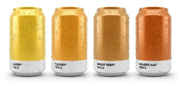 Awesome beer cans show the Pantone color of the brew that's inside. http://t.co/qqKc0x62X4 http://t.co/Ujuxy8FAPF