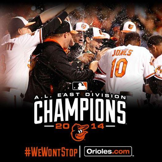 Congrats to our parent club @Orioles on winning the 2014 AL East Crown! #WeWontStop #proudaffiliate #IBackTheBirds http://t.co/2ISSbMGRM9