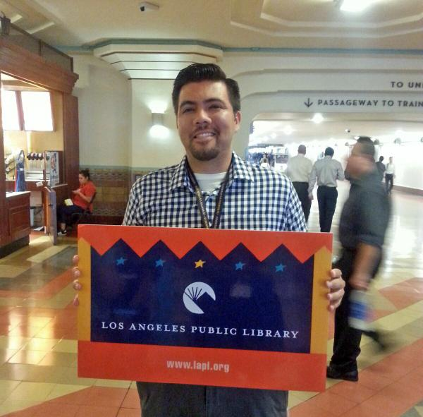 New library cardholders. Now they can enjoy the many benefits of the #bestcardinLA! #LAUnionStation #getOTL http://t.co/dWLZZI6aS8