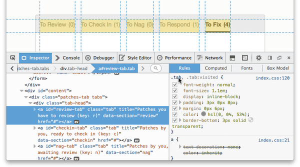 I really like the Selector preview in the latest Firefox Developer Tools! - https://t.co/VIK5hFvbGZ http://t.co/5PIbul9z37