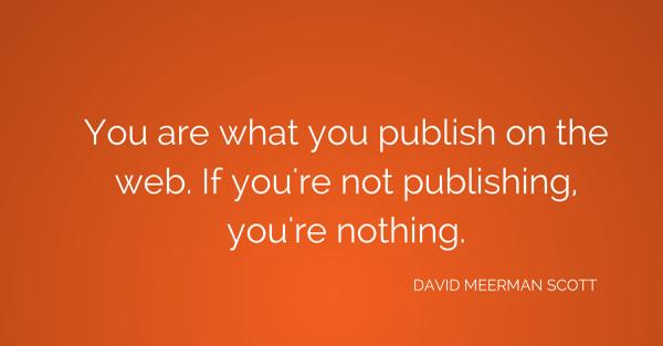 MT @jesus_hoyos @canva: U are what u publish on the web. If you're not publishing you're nothing. @dmscott #inbound14 http://t.co/rVrT7BcjAE