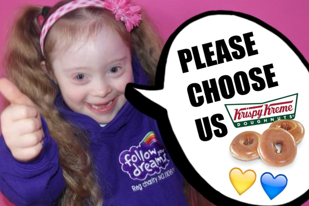 RT @tweetfyd: Please choose our Children's Charity and we will share them with special needs schools @krispykremeUK #BigOccasion http://t.c…