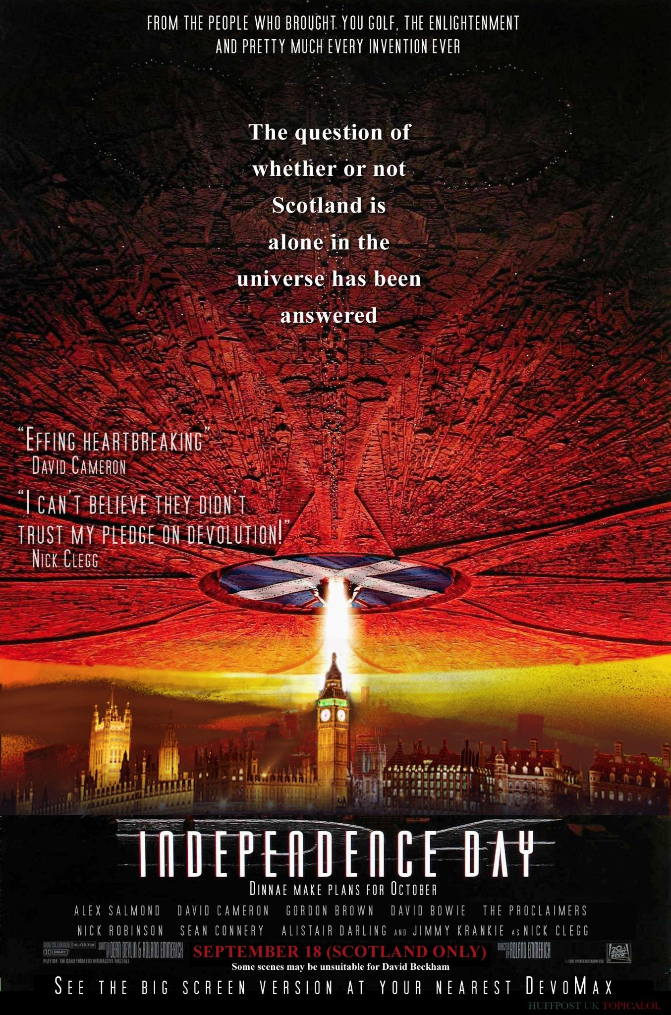 Independence Day: the British remake #indyref  (done for @HuffPostUKCom)  http://t.co/dLNusFLk4C http://t.co/hdtfjgxh5H