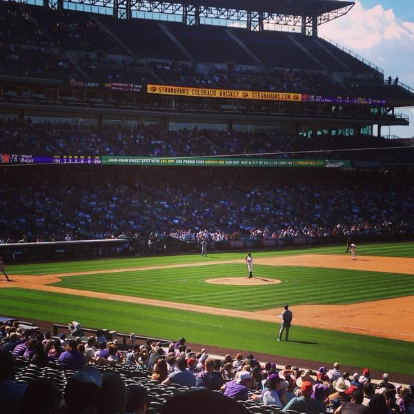 Our Trada team is at the ballpark today! Last afternoon game of the season. Go #Rockies! #teambuilding http://t.co/EazSmOzKN3