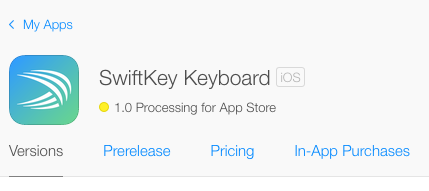 Processing. #skforiPhone is on its way! #iOS8 http://t.co/DDinEbkQzM
