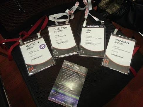 Kaitlyn, Chelsea, @icyniu, and @hannahbrenzel of ViralGains have had a fantastic time at #INBOUND14 thus far! http://t.co/Ow9V4kWoHd