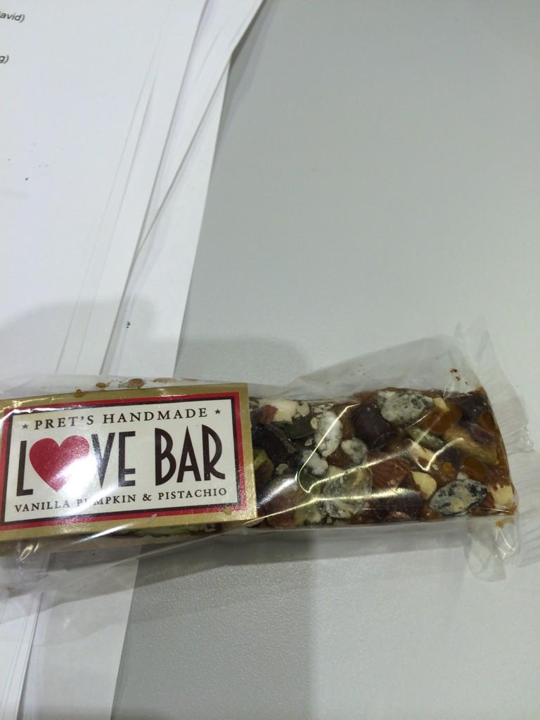 Dear fellow actor I worked with today. This is what I meant when I asked if you wanted a bite of my love bar. Honest. http://t.co/A3ecJELJRT