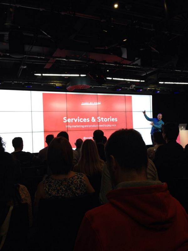Insightful and entertaining talk from @andywhitlock from @madebymany. Lots to think about. #firestarters http://t.co/7mVWWekgqt