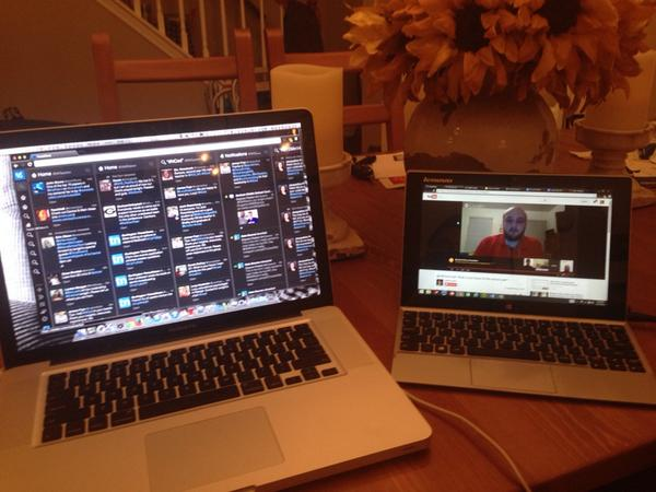 Dual screening tonight for #nced. GHO and Twitter :) http://t.co/ekE8N6wbTJ