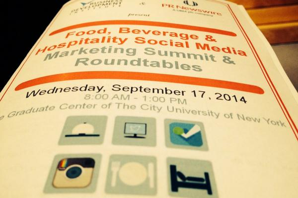 Thumbnail for 09/17/2014 Food, Beverage & Hospitality Social Media Marketing Summit & Roundtables