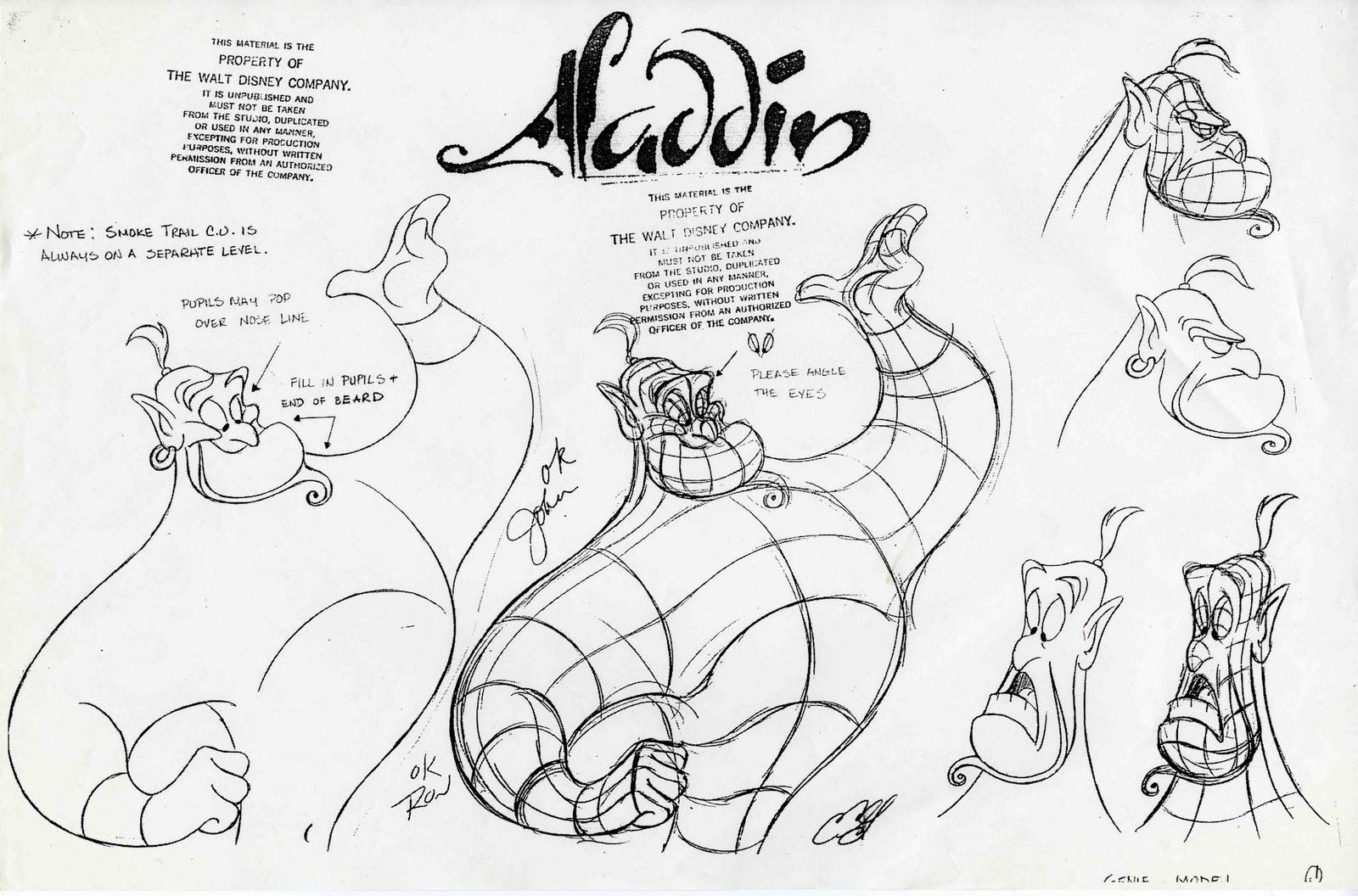 How To Learn Drawing On Twitter Model Sheet Of Genie For Disneys Aladdin Robin Williams Volume Grid Demonstrate 3D Nature Characters