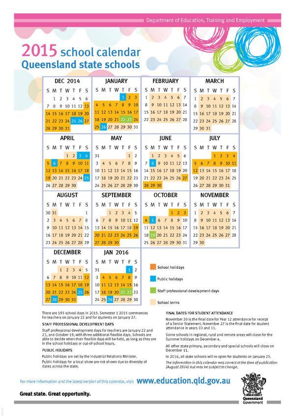 Fdr term dates in Brisbane