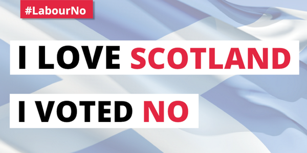 I love Scotland.  I voted No.  #LabourNo #indyref http://t.co/UaYRH46lYR
