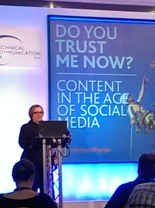 """There's a scientific reason why your content is ignored!"" by @rahelab at #TCUK14! #techcomm #Brighton http://t.co/PqpMIuhGiC"