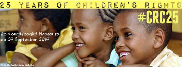 UN Cttee on #ChildRights invites YOU to 4 G+ Hangouts on 24 Sept. #CRC25 for Qs: http://t.co/yd5TS1lvrM http://t.co/ePSL0twsui