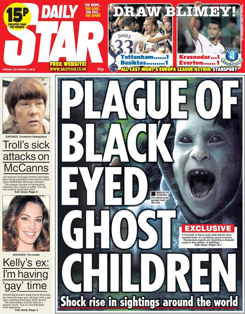 Famous tabloid headlines celebrity