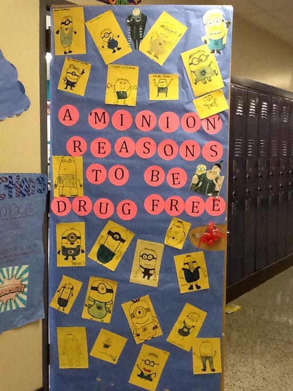 Katie Cooper On Twitter Red Ribbon Week Door Decoration A Minion