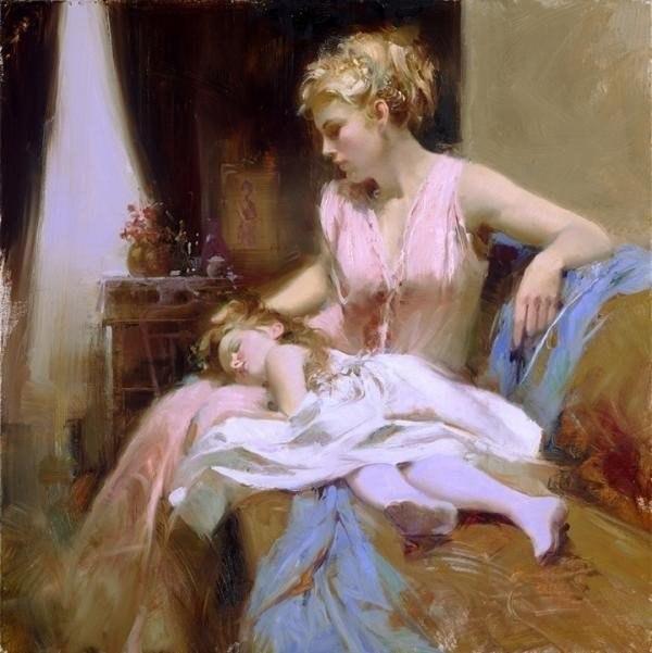 дочка рисованные картинки и мама