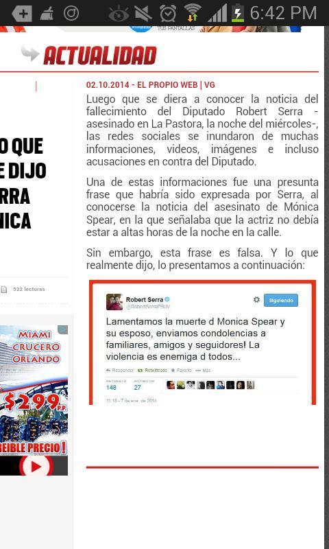 Esto es para TODOS los ESCUALIDOS que acusan a Robert Serra por algo que NO DIJO. http://t.co/KtuhNhadX4
