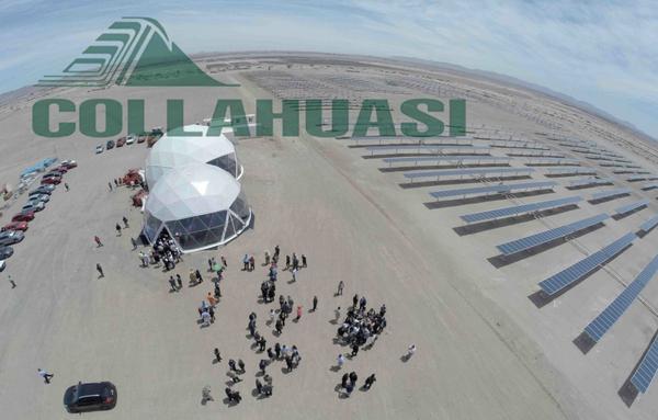 Inauguración de Pozo Almonte Solar #Collahuasi , excelente obra pionera en la minería que se abastece de #ERNC http://t.co/S3Bm6YZu0f