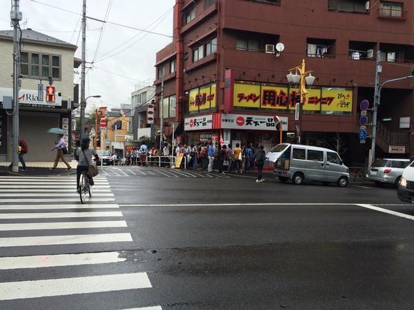 天下一品、高田馬場店、現在の様子 http://t.co/vmXo3Cb6AA